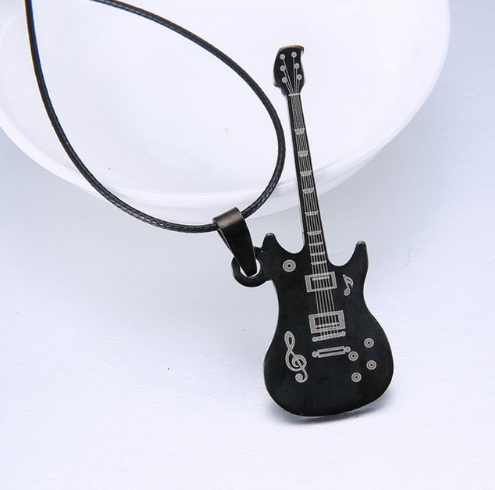 Guitar Leather Necklace - 123 Express Shop - 2