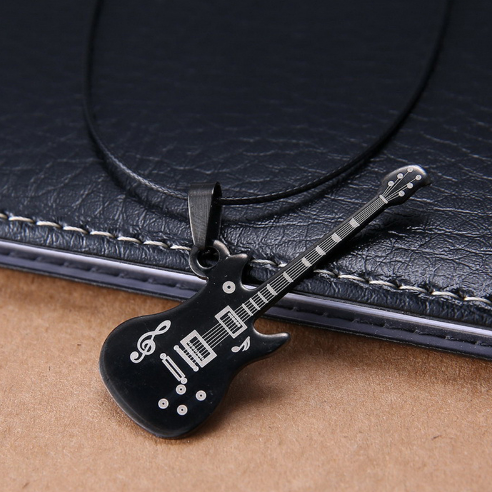 Guitar Leather Necklace - 123 Express Shop - 1