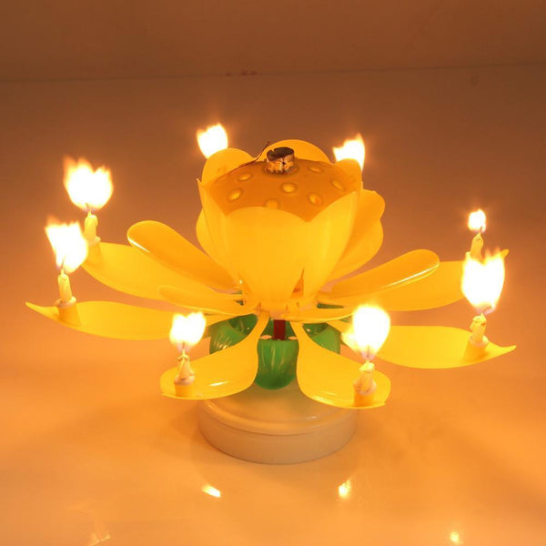 Musical Candle Lotus Flower