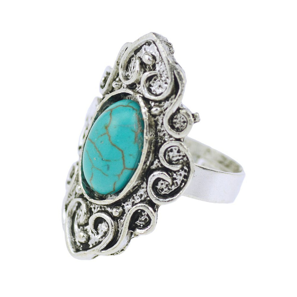 Bohemian Turquoise Ring - 123 Express Shop - 2