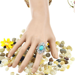 Bohemian Turquoise Ring - 123 Express Shop - 4