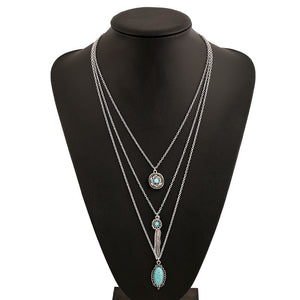 Multilayer Retro Bohemian Feather Long Necklace - 123 Express Shop - 1