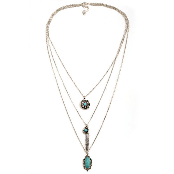 Multilayer Retro Bohemian Feather Long Necklace - 123 Express Shop - 3