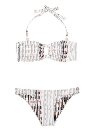 BLUSH CRESCENT BANDEAU SWIM SET