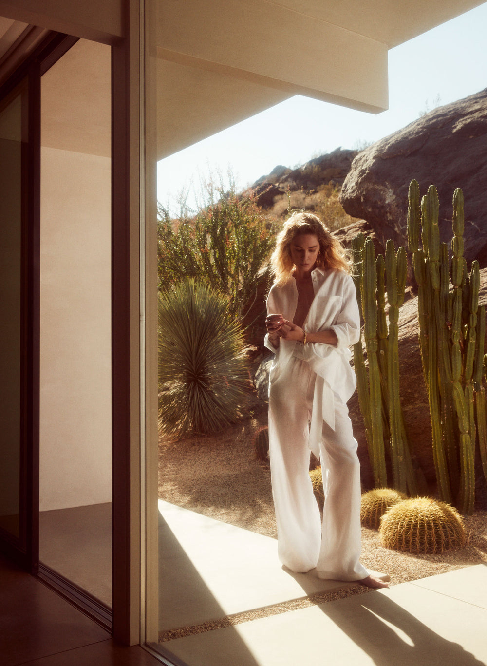 As seen on Erin Wasson, Lightweight luxury linens. Choose your perfect linen tops, wide leg trousers, dresses or oversized shirts from the collection. The perfect essential for summer days on vacation or days in the city - Asceno London