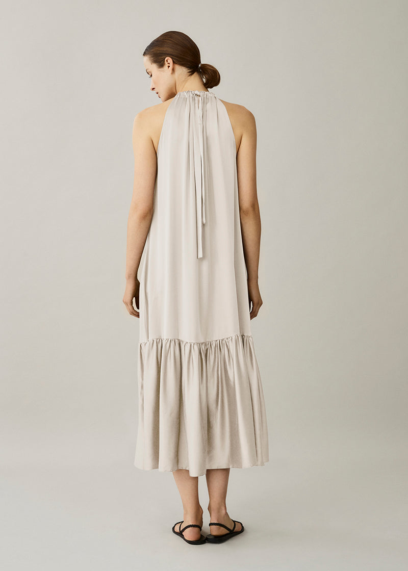 Ibiza Cream Silk Twill Dress