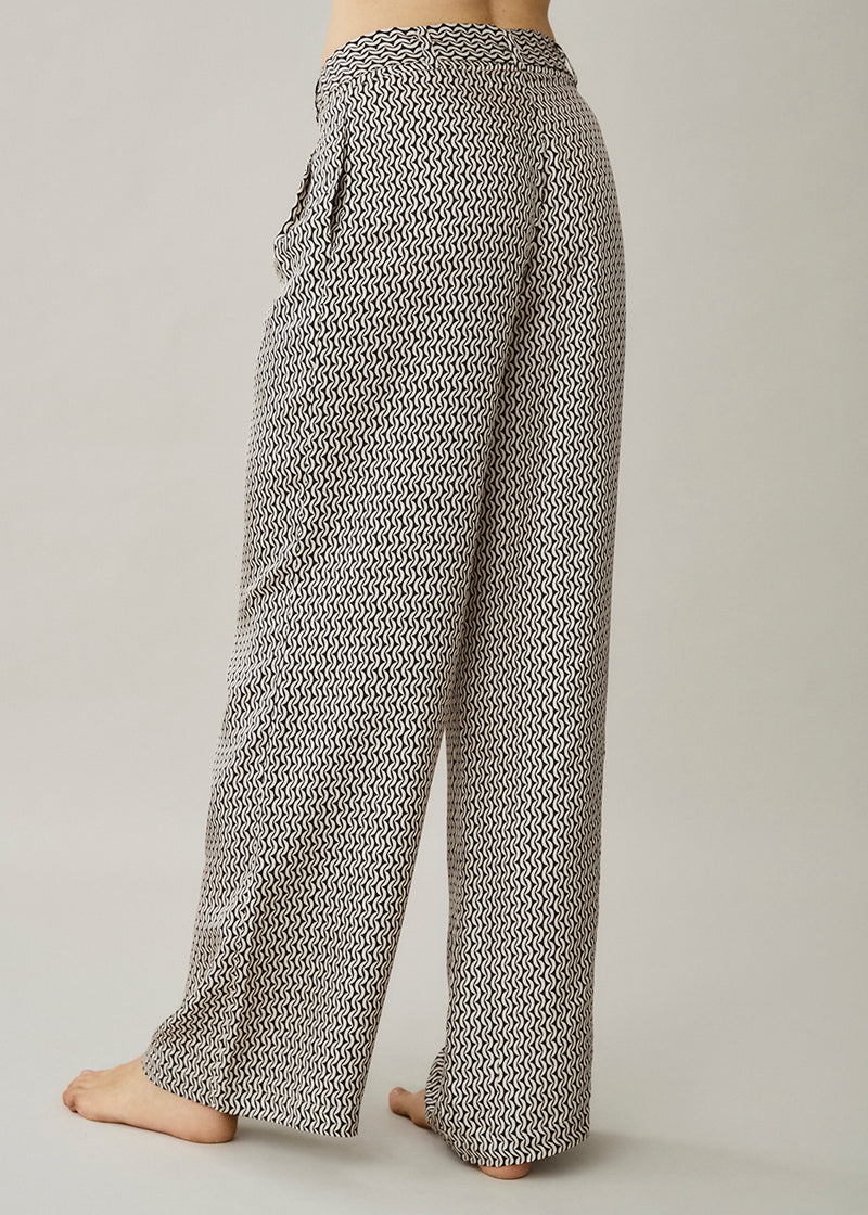 Rivello Cream Crescent Silk Twill Trouser