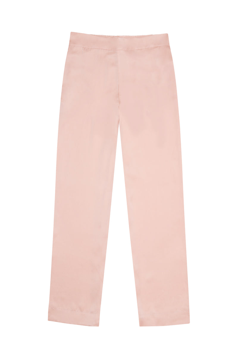 Pale blush silk pyjama bottom