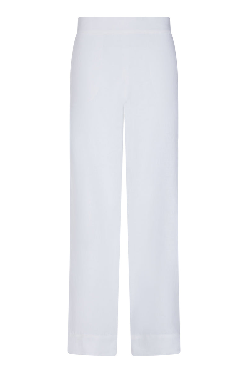 London White Linen Pyjama Trouser