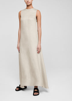 Oat sleeveless maxi linen dress