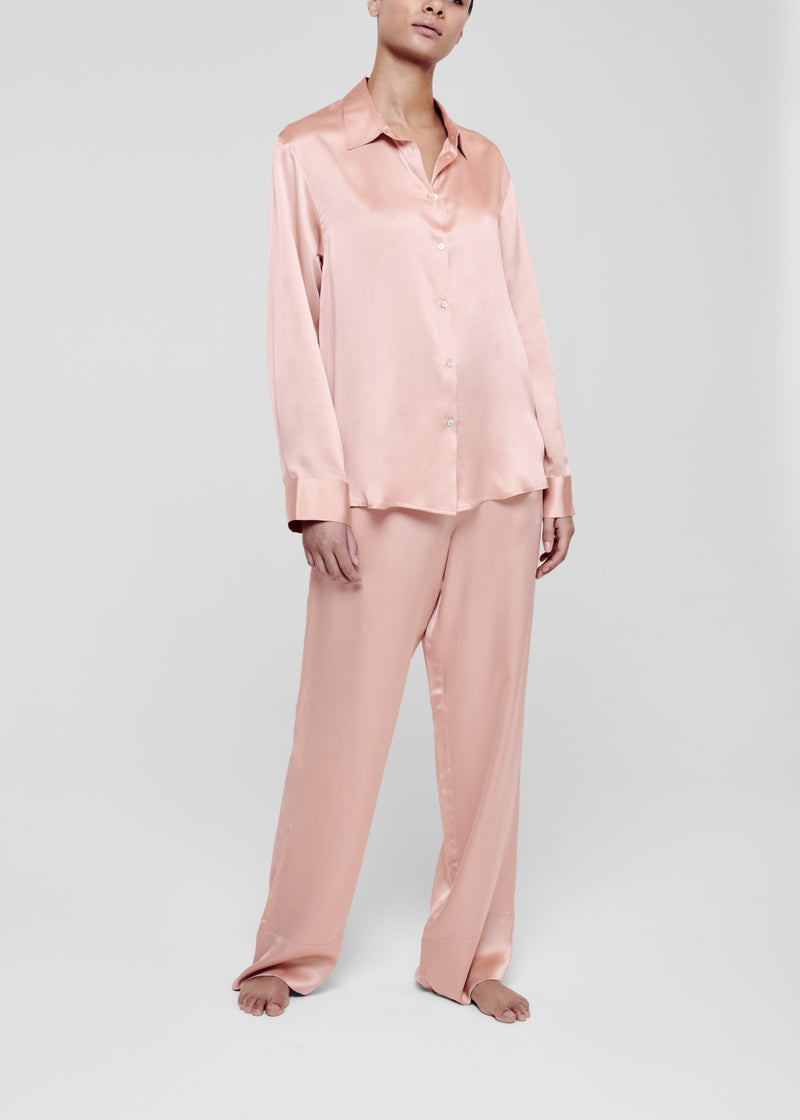 Pale Pink Silk Pyjama Top