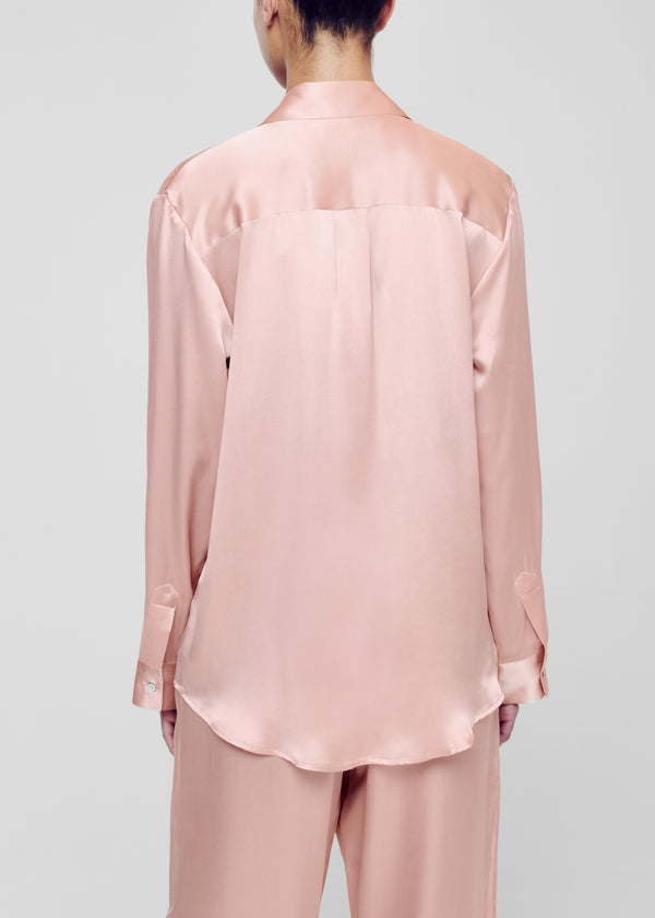Pale Blush Silk Pyjama Top
