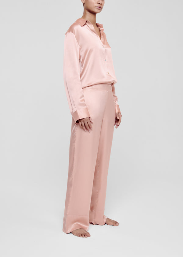 Pale Blush Silk Pyjama Trouser
