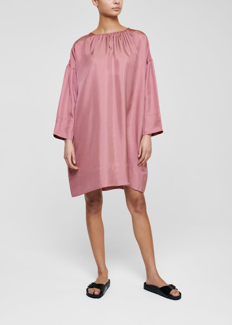 Pink Silk Twill Dress