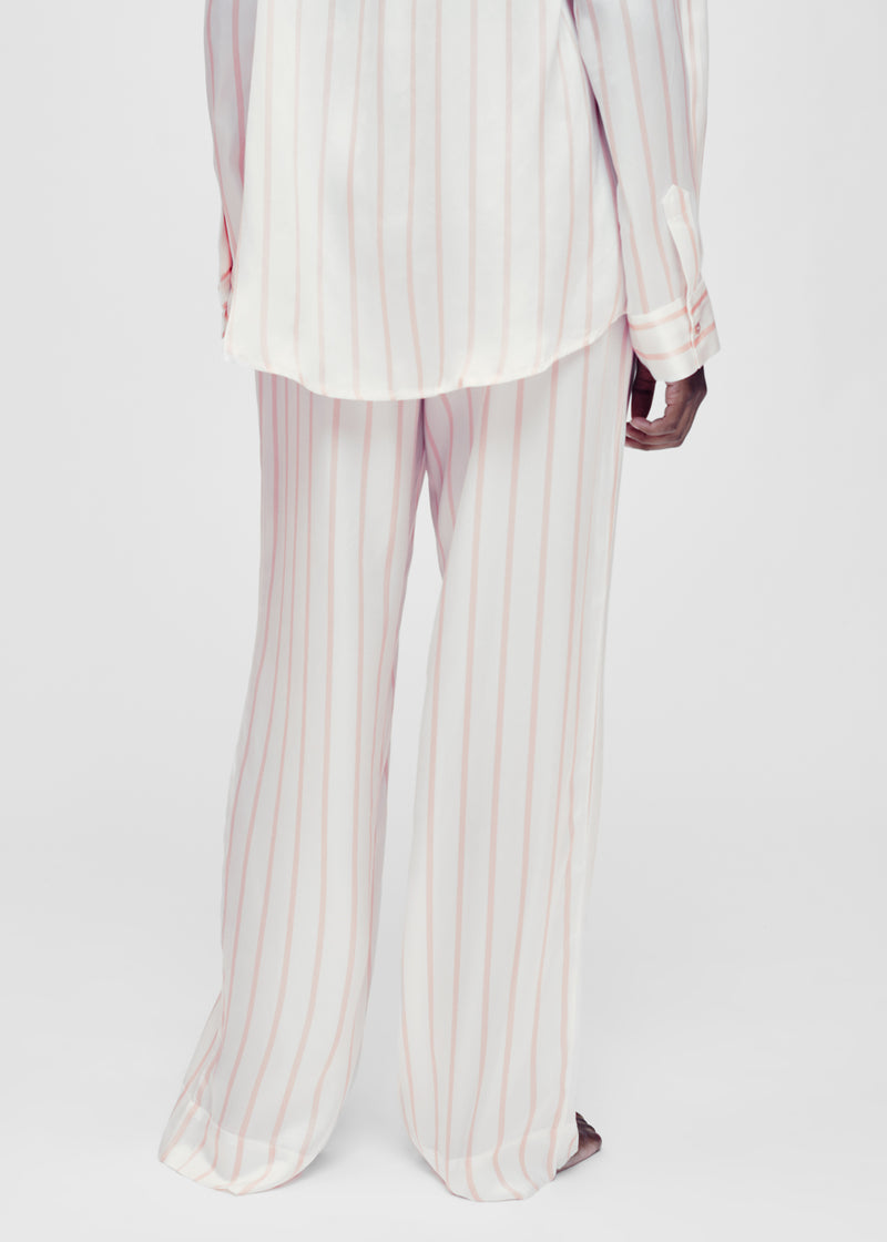 Blush stripe silk pyjama bottom