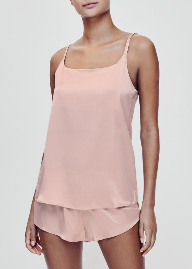 Pale blush silk camisole