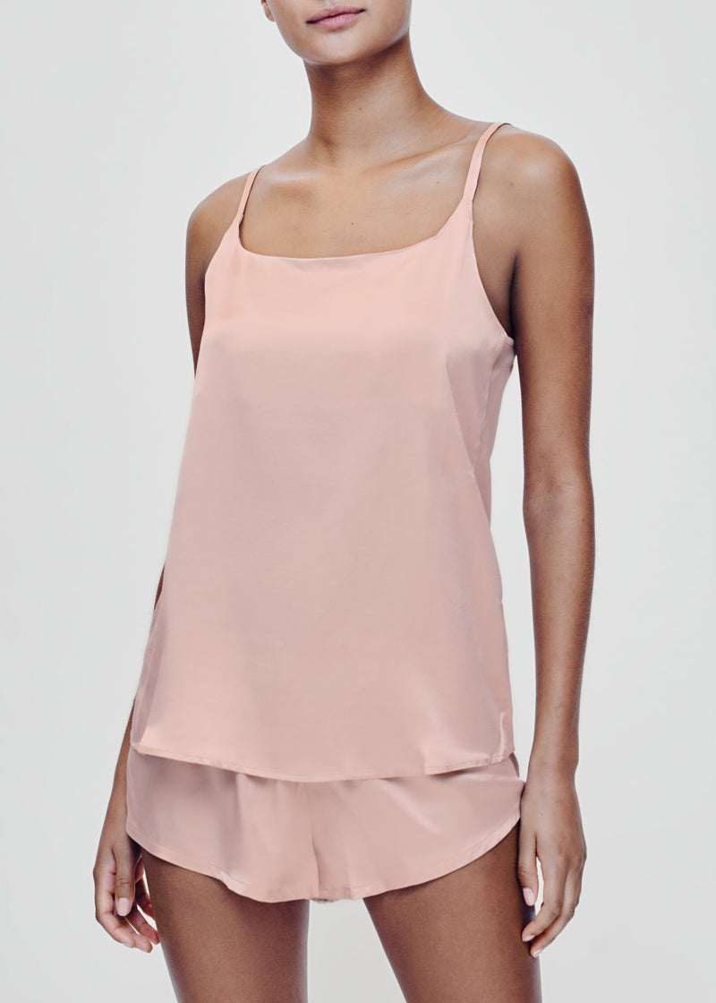 Pale Blush Silk Camisole Set