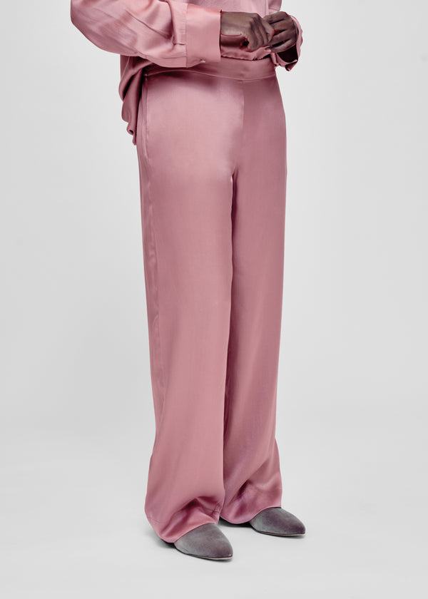 Pink silk pyjama bottom