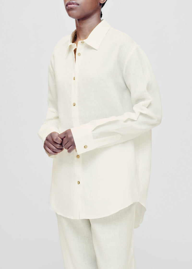 Milan Lemon Linen Shirt