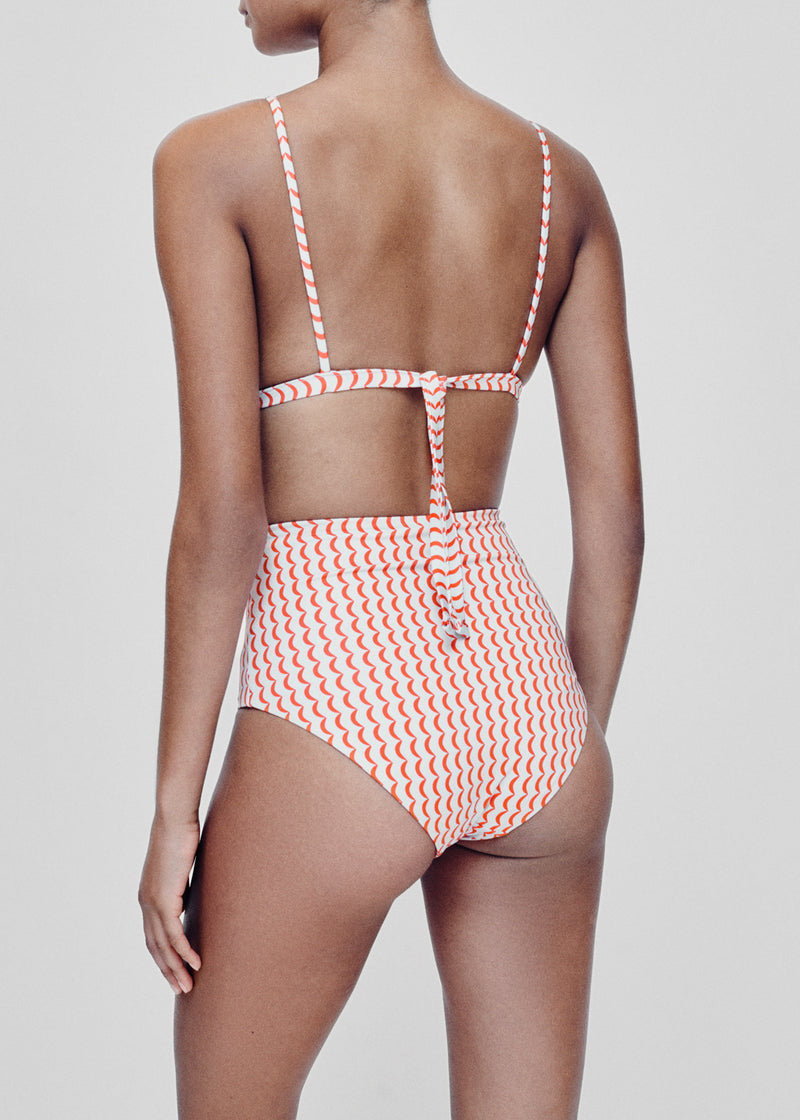 Deia Crescent Red Printed Bikini Bottom