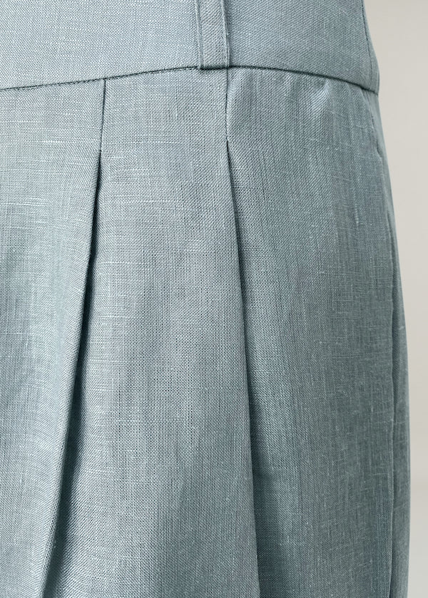 Rivello Dust Blue Linen Wide Leg Trouser