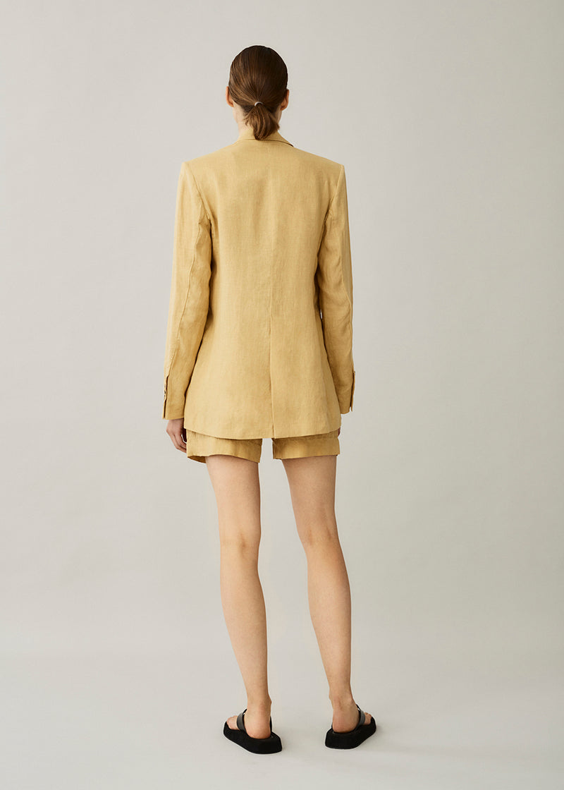 Madrid Antique Gold Linen Short