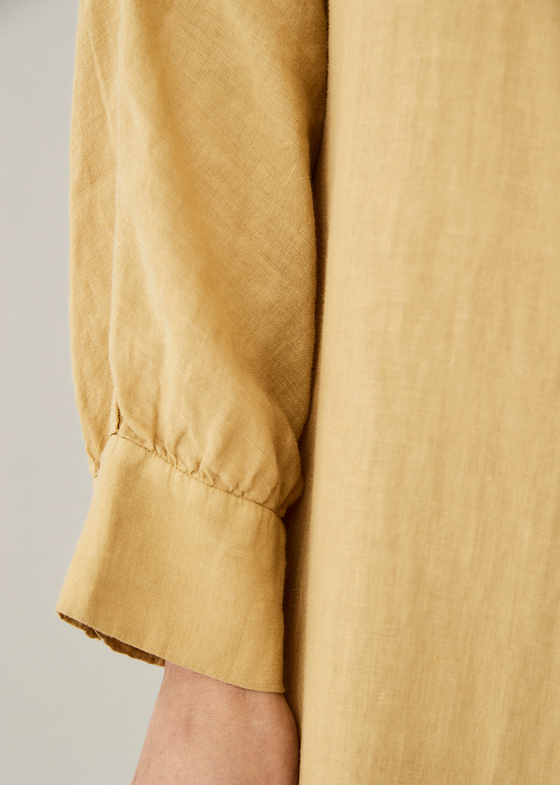 Porto Antique Gold Linen Dress