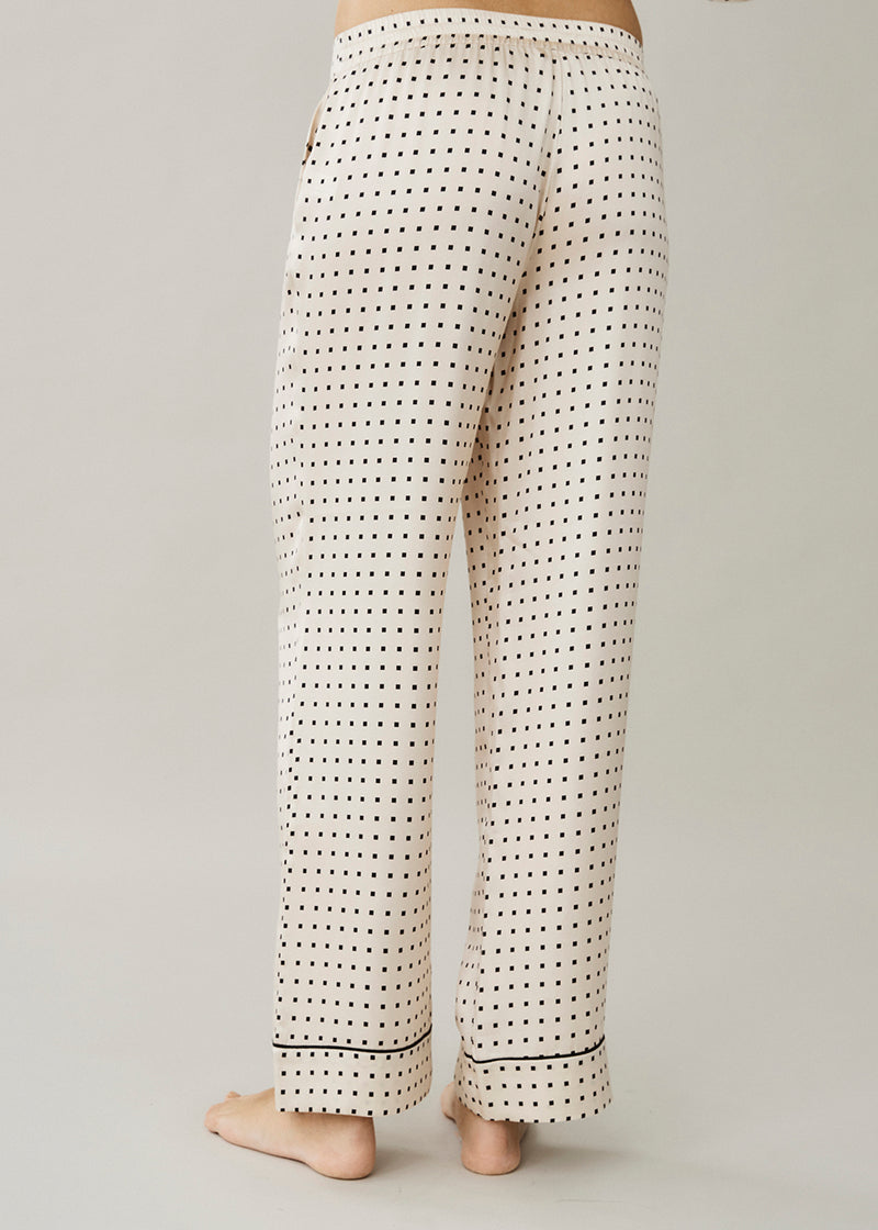 London Cream Square Silk Trouser