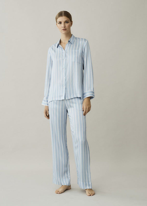Sky Stripe Silk Pyjama Set