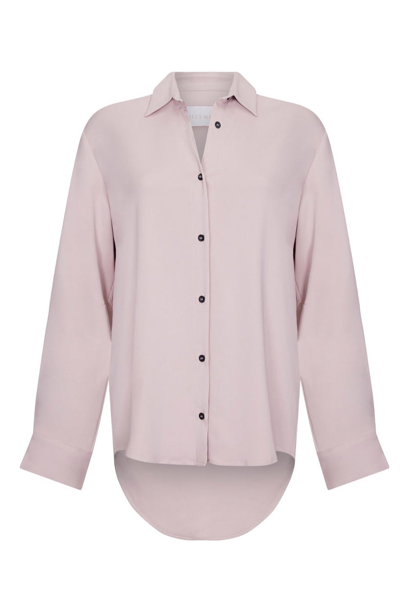 Lilac viscose oversized shirt