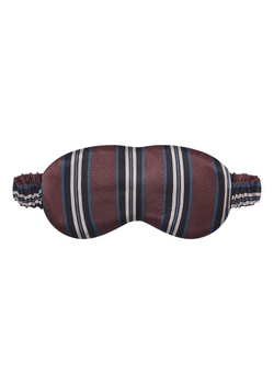 London burgundy stripe silk eye mask