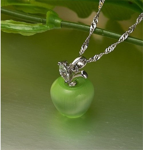 {Adorable Apple Pendant Necklace - S&H}