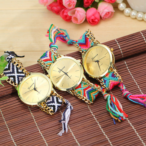 {Beautiful - Multi-Color Friendship Braided Watch}