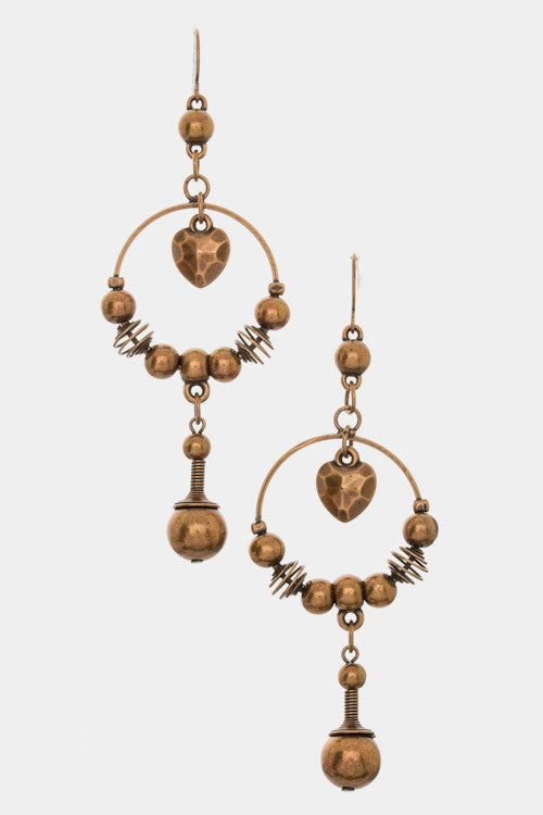 {Dangling Chandelier Drop Earrings}