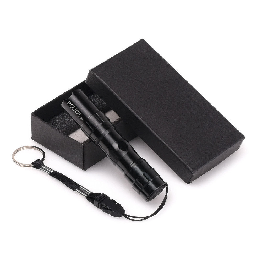 {Black Q5 Penlight Tactical LED Water Resistant Flashlight W/Belt Key Chain}