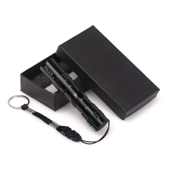{Black Q5 Penlight Tactical LED Water Resistant Flashlight W/Belt Key Chain - S&H}