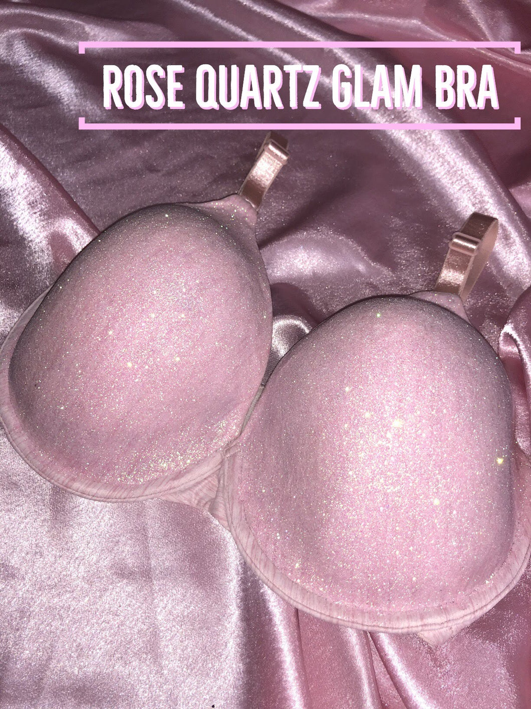 Rose Quartz Glam Bra