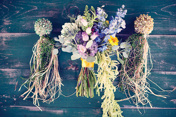 rustic flower bouquet