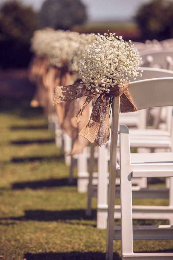 rustic wedding outdoor chair setting
