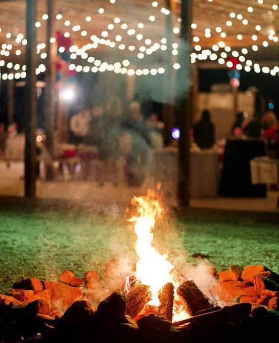 rustic bonfire wedding