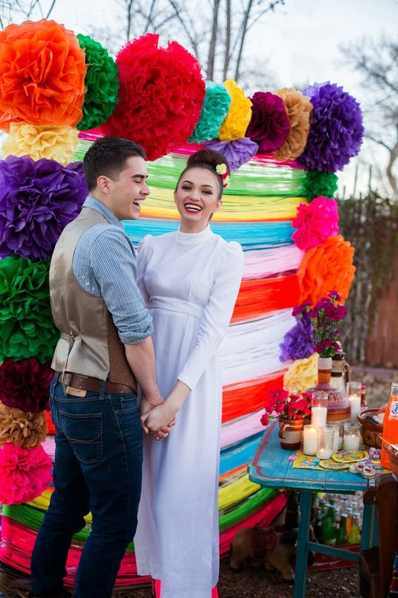 colorful mexican wedding