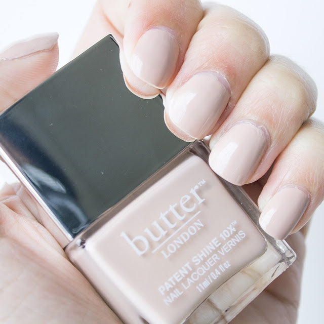 butter nude bridal nails
