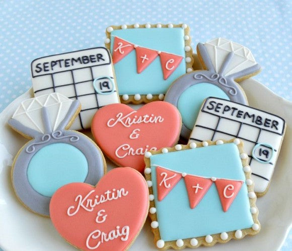 sugar cookie cute save the date