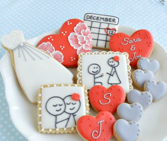 Sugar cookies save the date idea
