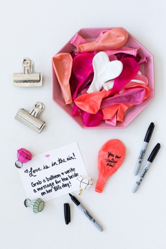 diy balloon wishes for the bride to be