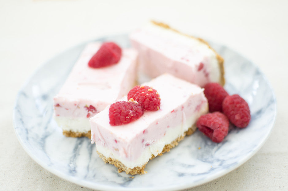 yummy pink raspberry cheesecake for bridal shower