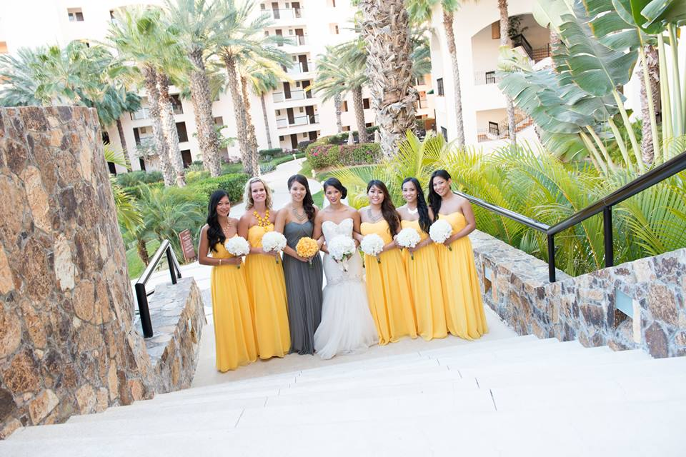 pastel-dress-party-bridesmaid-dresses-yellow-grey-wedding
