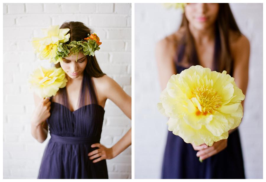 yellow and charcoal summer wedding