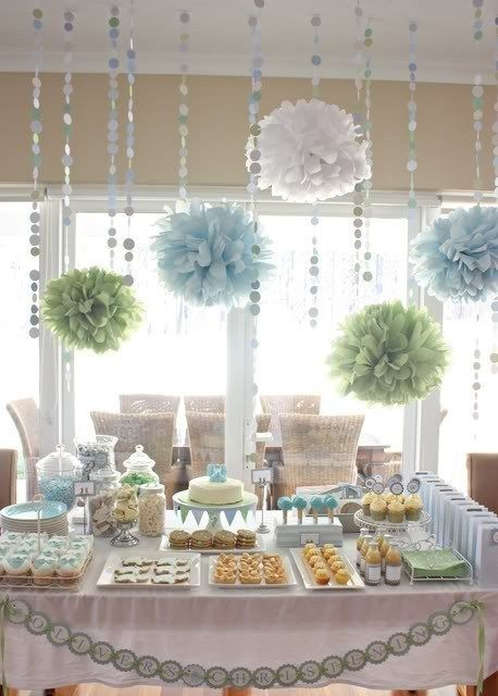 issue pom pom decor bridal shower