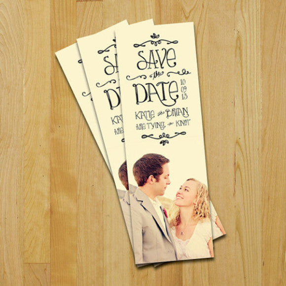 save the date ticket cute idea